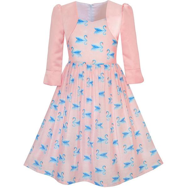 Großhandel Sunny Fashion Mädchen Kleid 2 In 1 Bolero Elegante Swan ...