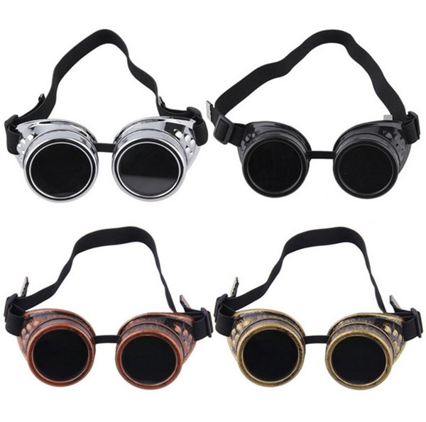 Creative Retro Cyber Goggles Steam-punk Glasses Vintage Welding Punk Victorian Outdoor Sports Skiing Sunglasses Free shipping