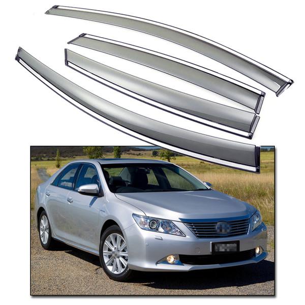 4pcs Window Sun Visor Shade Vent Wind Rain Deflector for 2012-2014 Toyota CAMRY