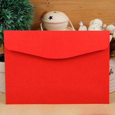 Wholesale-50pcs LxW: 19x13.5cm kraft paper Envelopes for Business VIP Card Small Wedding Party Invitation Card postcard suit office