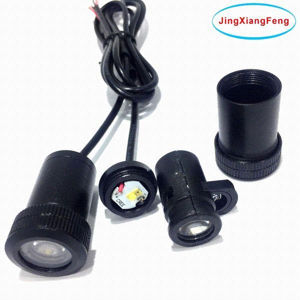 JingXiangFeng Case Pour Peugeot 12 V LED Intérieur Fantôme Ombre Lumière Auto Logo Voiture Accessoires Décoratifs Bienvenue Courtesy Porte