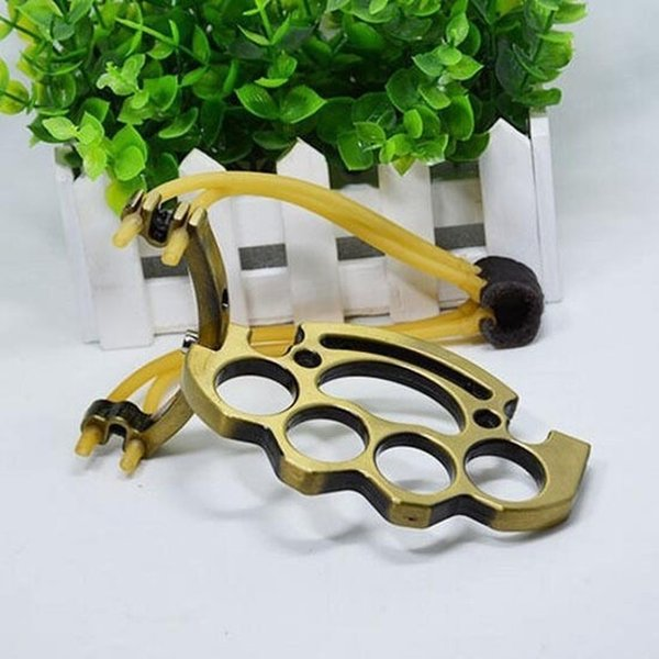Hunting Outdoor Catapult 1 Pcs Folding Bands Slingshot Rubber Powerful Metal Fashtion