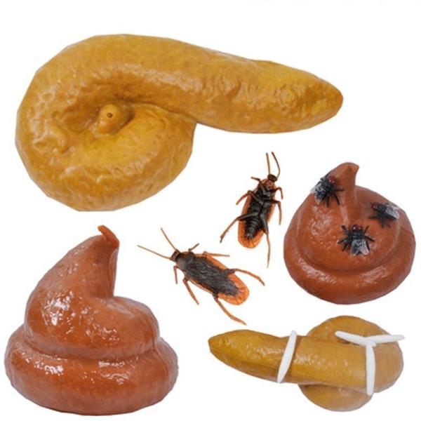 Uçar Hamamböceği Hediye simülasyon Tits Poop Sahte Dışkı Turd Kurtulmuş Şaka Böcekler Cadılar Bayramı Nisan Şakalar Gün Tricky Oyuncaklar