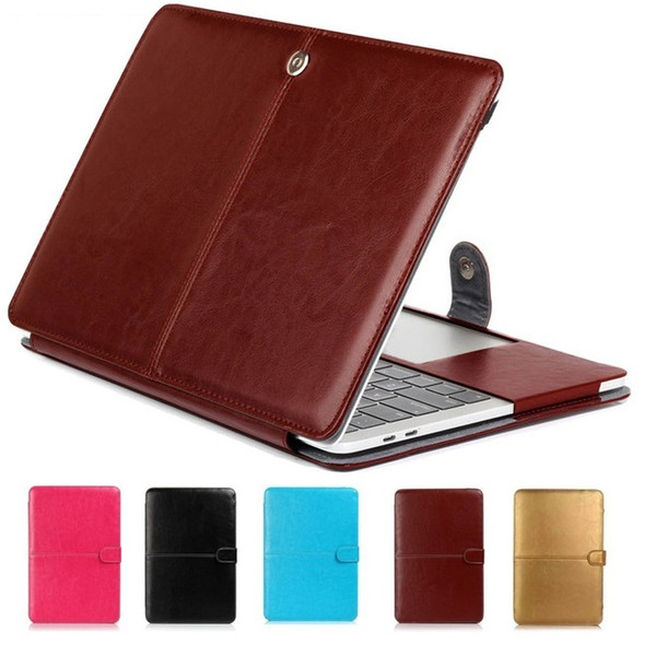 For Macbook Air Pro Retina 11.6 12 13.3 15.4 PU Leather Sleeve Laptop PC Case Cover with Touch Bar