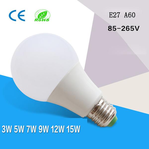 Degré LED ampoules Globe E27 B22 Lampe bulle 3w 5w 7w 9w haute luminosité A19 A60 ampoules LED AC85-265V livraison gratuite