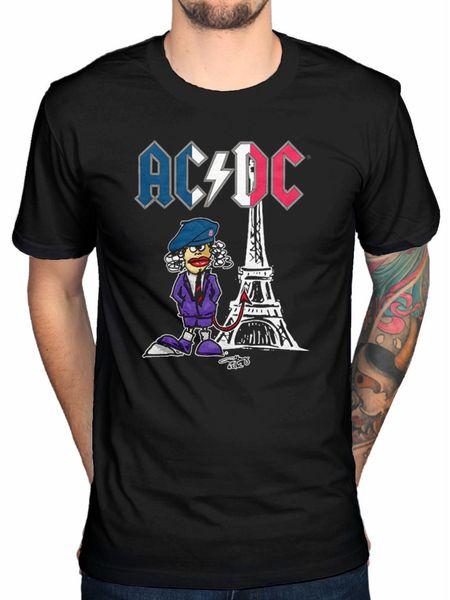 Официальный AC / DC Париж событие 2015 футболка обратно в Черный альбом рок-тур Новый Merch горячие дешевые мужские на заказ хорошее качество футболка топ тройник