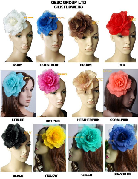 best selling 15cm soft silk flower for sinamay fascinator,sinamay hats and hair accessory,12 colours,16pcs lot