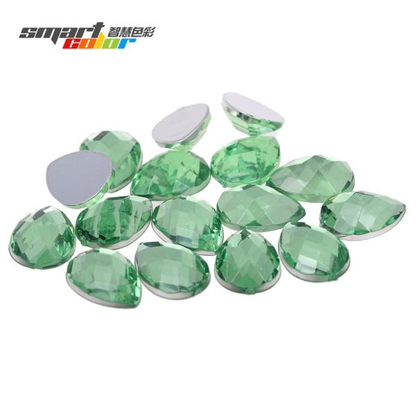 13x18mm 200pcs Many Colors Tear Shape Earth Facets Flatback Acrylic Rhinestones Nail Art Glue On Beads DIY Crafts Decorations