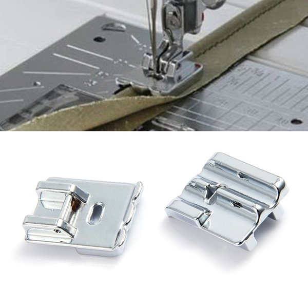 2pcs/lot Household Multi - functional Sewing Machine Accessories Double Rolled Hem Presser Foot CY-9908 Drop Shipping