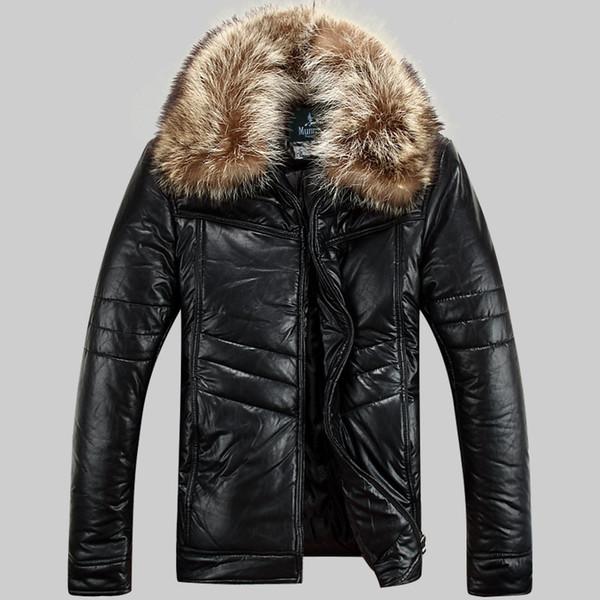 Parkas Erkekler Kış Ceketler Gerçek Rakun Kürk Rüzgarlık Kar Ceket Dış Giyim Palto Su Geçirmez Sıcak Kalın Büyük Boyut 4XL 5XL Yeni