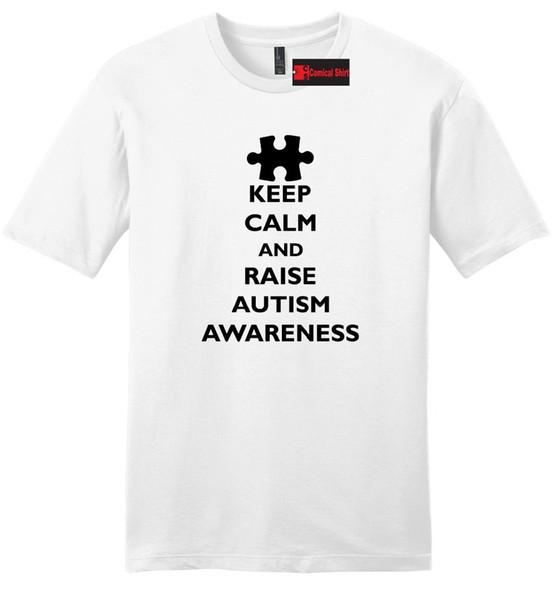 Keep Calm Raise Autism Awareness Mens Soft T Shirt Autism Event Tee Shirt  Z2 Brand T Shirt Men 2018 Fashion Retro Cool Tshirt Designs Create T Shirt  ...