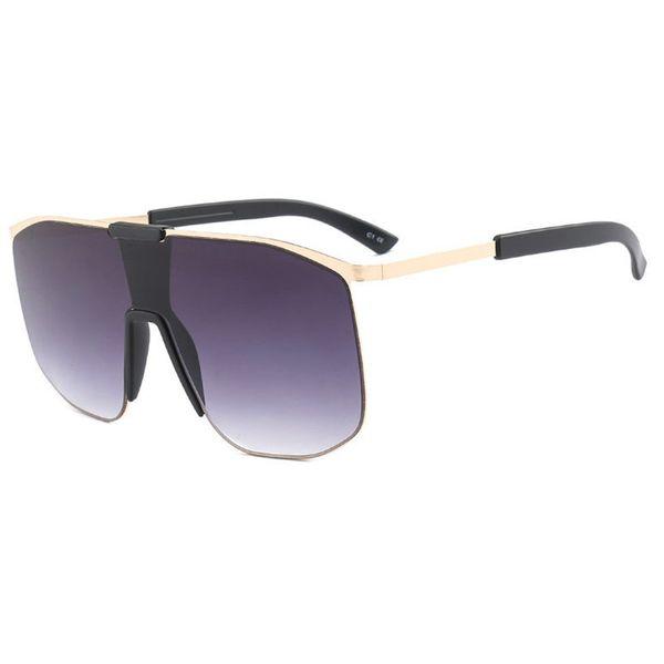 Square Oversized Sunglasses 2018 Fashion Shades Female Vintage Black Hip-hop Glasses square Sun Glasses For Women Luxury FML