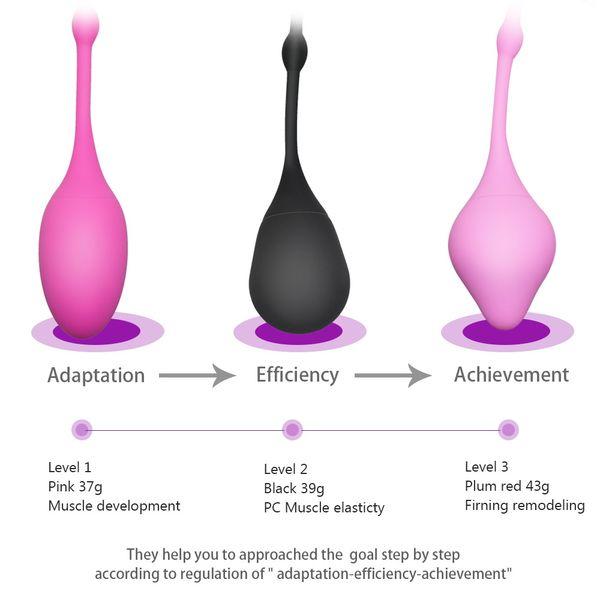 Women Aid Love Geisha 3 Size 3pcs Vaginal Balls for Tight Exercise Machine Ben Wa Balls Vibrator Vaginal Ball Sex Toys