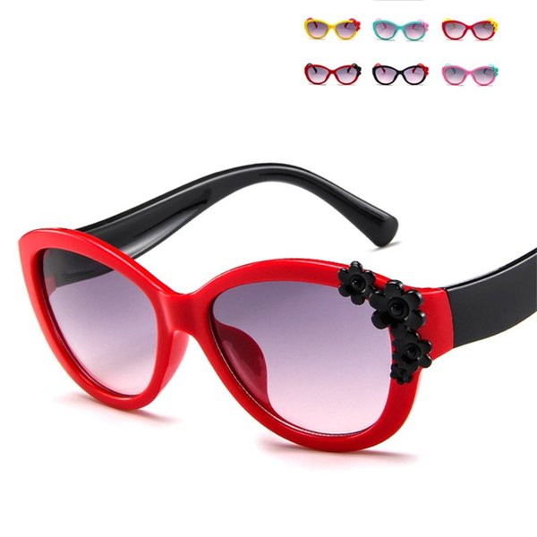 dab767831e32 flower eyeglass frames Coupons - Kid Cartoon Flower Sun Glasses For Boys  Girls Fashion Trend Designer