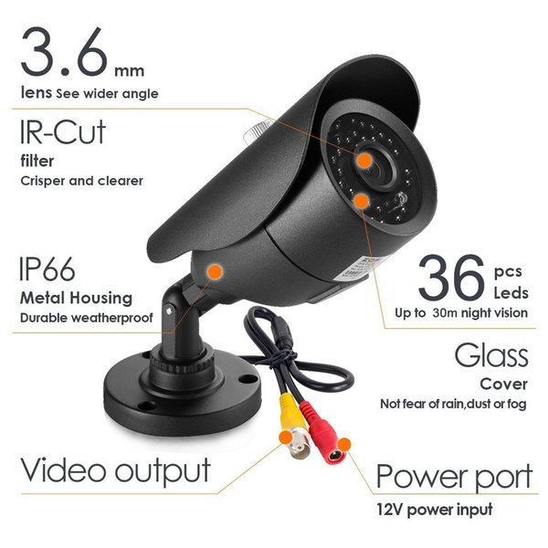 1080P AHD  CCTV Camera Night Vision Waterproof Indoor Outdoor Home Video Surveillance Camera