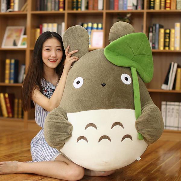 Anime Totoro Plush Doll Big Japanese Cartoon Lotus Leaf Totoro Toys Pillow Childen Birthday Gift Girl Gifts 43inch 110cm
