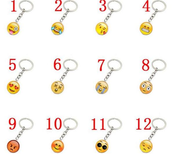300 pcs à la mode Smiley Face collier Emoji pendentifs Smile porte-clés Smiley Face porte-clés bijoux Happy Pendan Cadeau J083