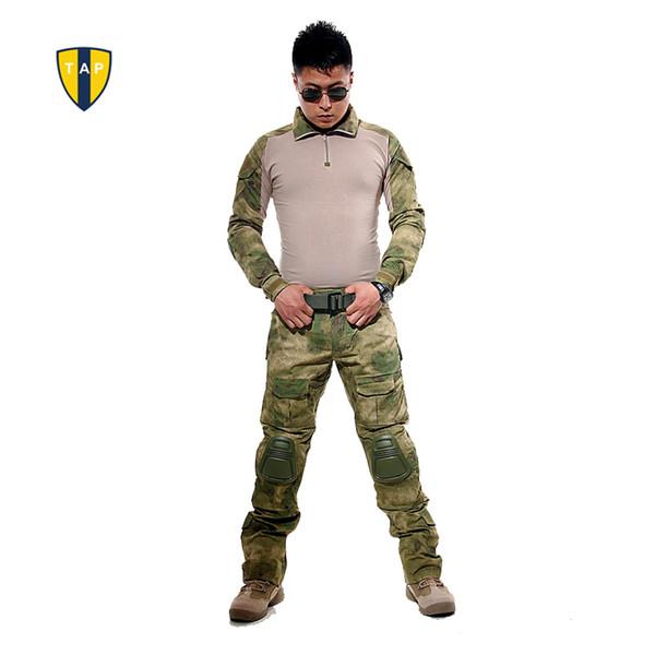 US Tactical Ghillie Anzug Camouflage Uniform Armee Anzug Kampf Shirt Taktische Hosen Mit Pads Paintball Jagd Kleidung