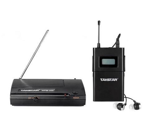 Sistema de monitor inalámbrico UHF Takstar wpm-200 original en la oreja Transmisor de auriculares estéreo inalámbrico Receptor etapa monitores de un conjunto