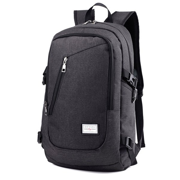 Fashion Anti Theft Business Laptop Backpack with USB Charging Port Unisex Leisure Travel Backpack School Bags  feminina