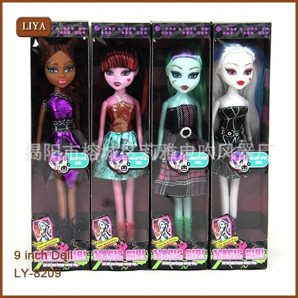 Hot New Retail Monster High Fashion Dolls 4pcs/set monster Action Figure doll toy fad girl toys kids Free shipping