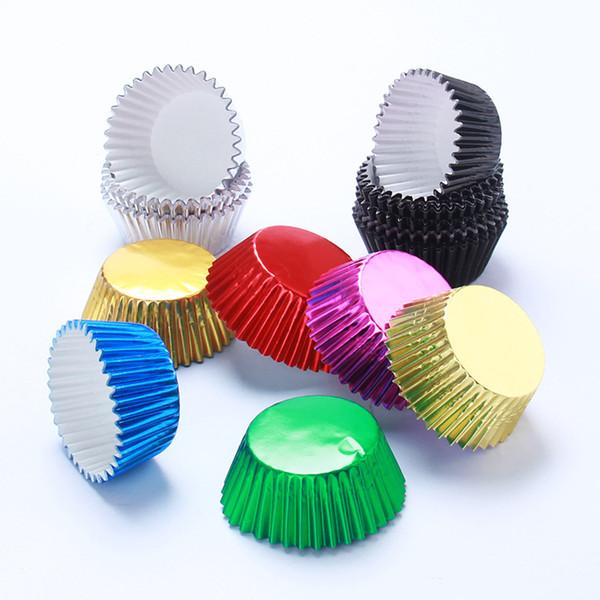 Nouveaux emballages de Cupcake de papier de couleur pure Outils de décoration de gâteaux Muffin Cups nouvellement 200sets / lot T2I221