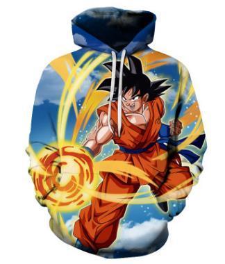 Yeni moda Serin kazak Hoodies Erkekler kadınlar 3D baskı Dragon Ball Z Goku moda sıcak Tarzı Streetwear Uzun kollu giysi