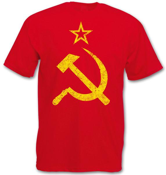 CCCP VINTAGE LOGO T-SHIRT - Soviet Union Hammer Communism Russia Socialism UDSSR 2018 New Mens T Shirts