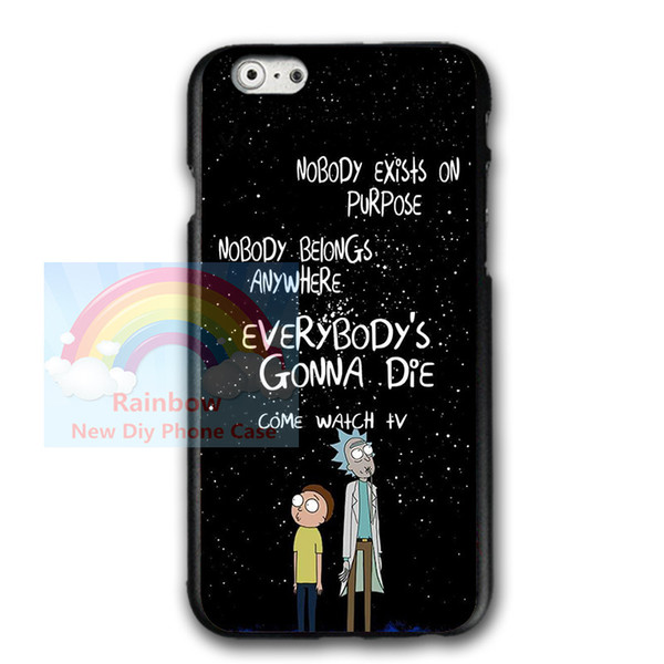 buy popular 5f6e9 d5210 Anime Rick And Morty For Iphone 6 6s 8 8plus Case, Rick And Morty For  Samsung S7 S8 Plus Hard Plastics Phone Protective Case Jeweled Cell Phone  Cases ...