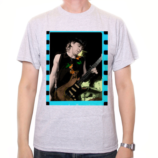 Details zu Stevie Ray Vaughan Photo T Shirt - On Stage Colour Classic Blues T Shirt Awesome Unisex Funny free shipping gift Casual tee