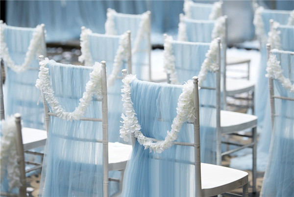 wedding arches party event romantic DIY wedding flower chair bow wedding chair decoration flower buckle for party stage backdrops decoration