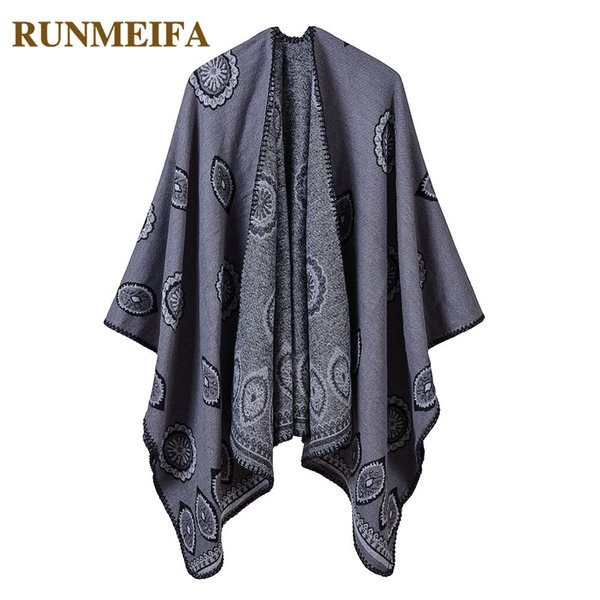2018 New Fashion Winter Women Warm Plain Poncho And Capes For Ladies Coat High Quality 5 Colors Shawls Oversize Cloak Female