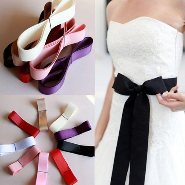 270cm Long Waist Decoration Ribbon Belts For Women Modelin Fashion Bride Bridesmaid Wedding Bridal Female waist belt
