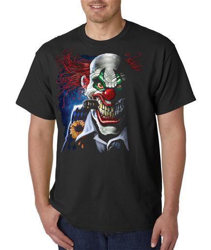 Клоун Джокер С Сигарой Зло Улыбка Футболка Всех Размеров (555)