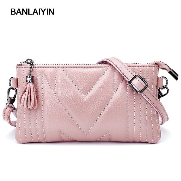 Luxus Echtes Leder Frauen Clutch Bag Einfache Stil Abendtasche Mode Schulter Umschlag Für Frauen Messenger