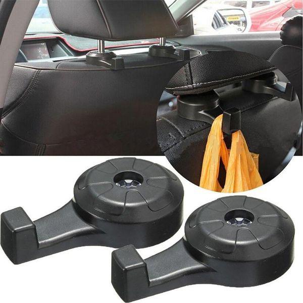 best selling 2Pcs Universal Car Truck Suv Seat Back Hanger Organizer Hook Headrest Holder Backrest hook for car Home Decor GGA653