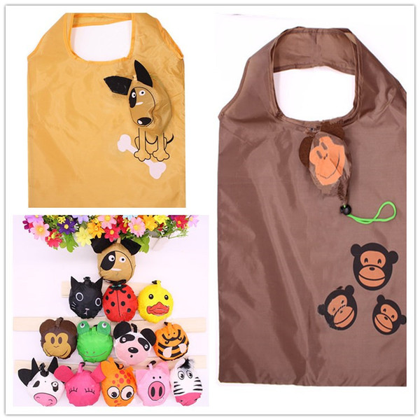 Lovely Cartoon Mini Shopping Bags Animal monkey Strawberry Design Bag Easy To Carry Foldable Tote Pouch Children Girl Handbag Factory Price