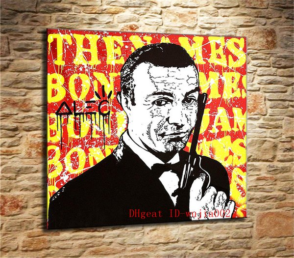 James Bond By, Canvas Painting Living Room Home Decor Modern Mural Art Pittura a olio