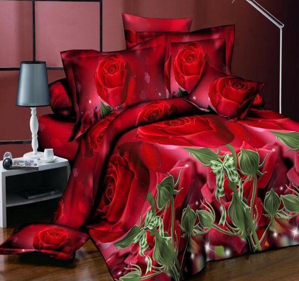 2019 Top quality cotton 4 pcs bedding set bed Sheet Quilt/Duvet Covers PillowCase Bedclothes Bed Linen Bedding Supplies queen size