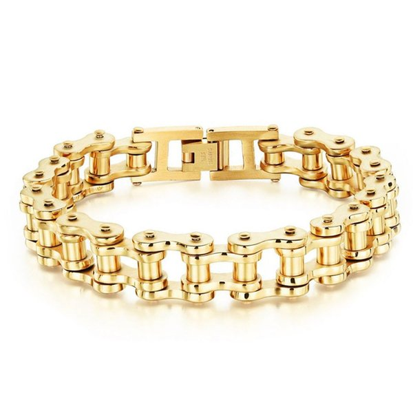 2018 Titanium steel men's chain bracelet fashion motorcycle chain rock and roll boyfriend bracelet jewelry wholesale