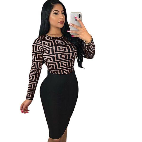 brand designer long sleeve dress print skirts casual mini dress knee-length skirt women clothing dhl fast