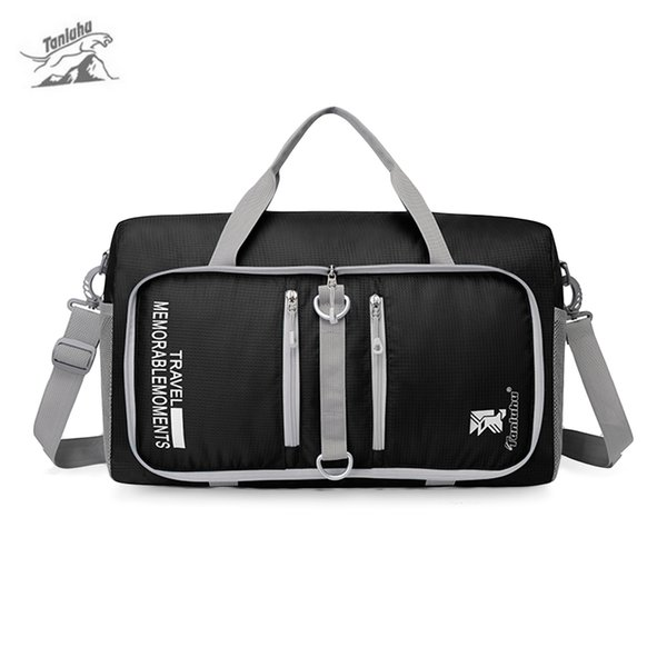 Tanluhu 25l ao ar livre sacos de treinamento de grande capacidade resistente à água saco de viagem dobrável duffle bag ginásio viajar pacotes de bagagem