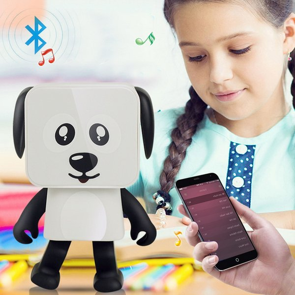 Smart Dancing Dog Mini Bluetooth Speaker Cartoon Wireless Portable Sound Box Toy Stereo Loudspeaker Greative Xmas Gift Subwoofers
