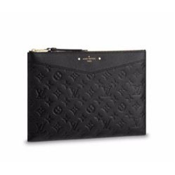 M62937 Women Logo Emboss Daily Pouch Clutch Purse Bag Wallet Purse Belt Bags Mini Bags Clutches Exotics