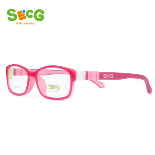 Compre Secg Ultraligero Flexible Suave Niños Marco Niños Gafas De ...
