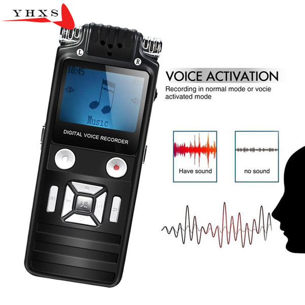 Portable 8GB HD Digital Audio Sound Voice Recorder Dictaphone WAV MP3 Player Recordin 50m Noise Reduction Support Music