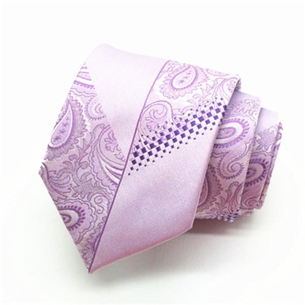 Mens Lavender Lilac Plain 7cm Slim Tie