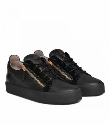 De alta qualidade frete grátis preto couro de grãos de crocodilo para homens e mulheres sapatos de alta-level moda tênis chaoliu 1896010