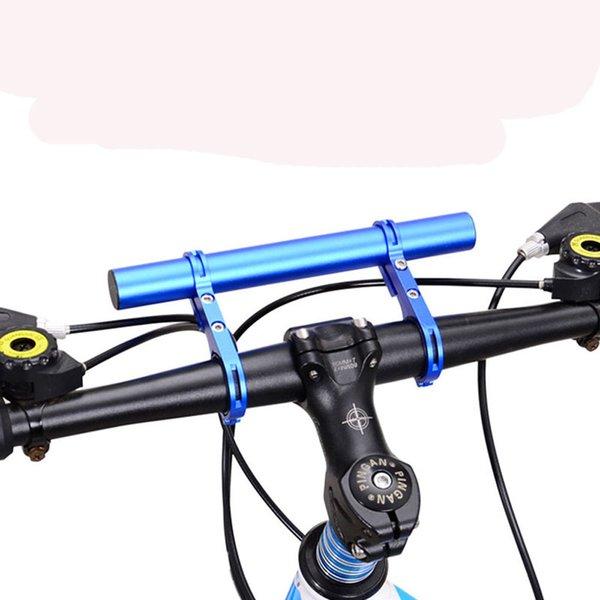 Mountain Road Vélo Vélo Double Guidon Extension Mount Aluminium Extender Support Pour Set de feux de vélo s chronomètre 2