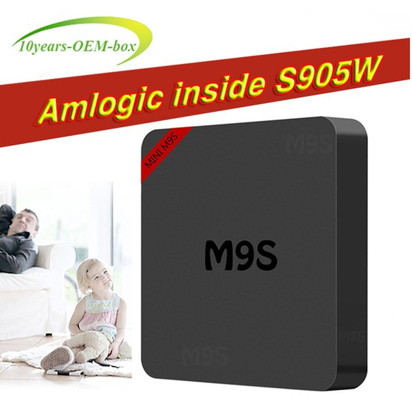 M9S MINI Android 7.1 TV Box S905W RK3229 Quad Core Box TV 1G/8G WiFi H.265 3D Smart Tv box bet TX3 X96 MINI